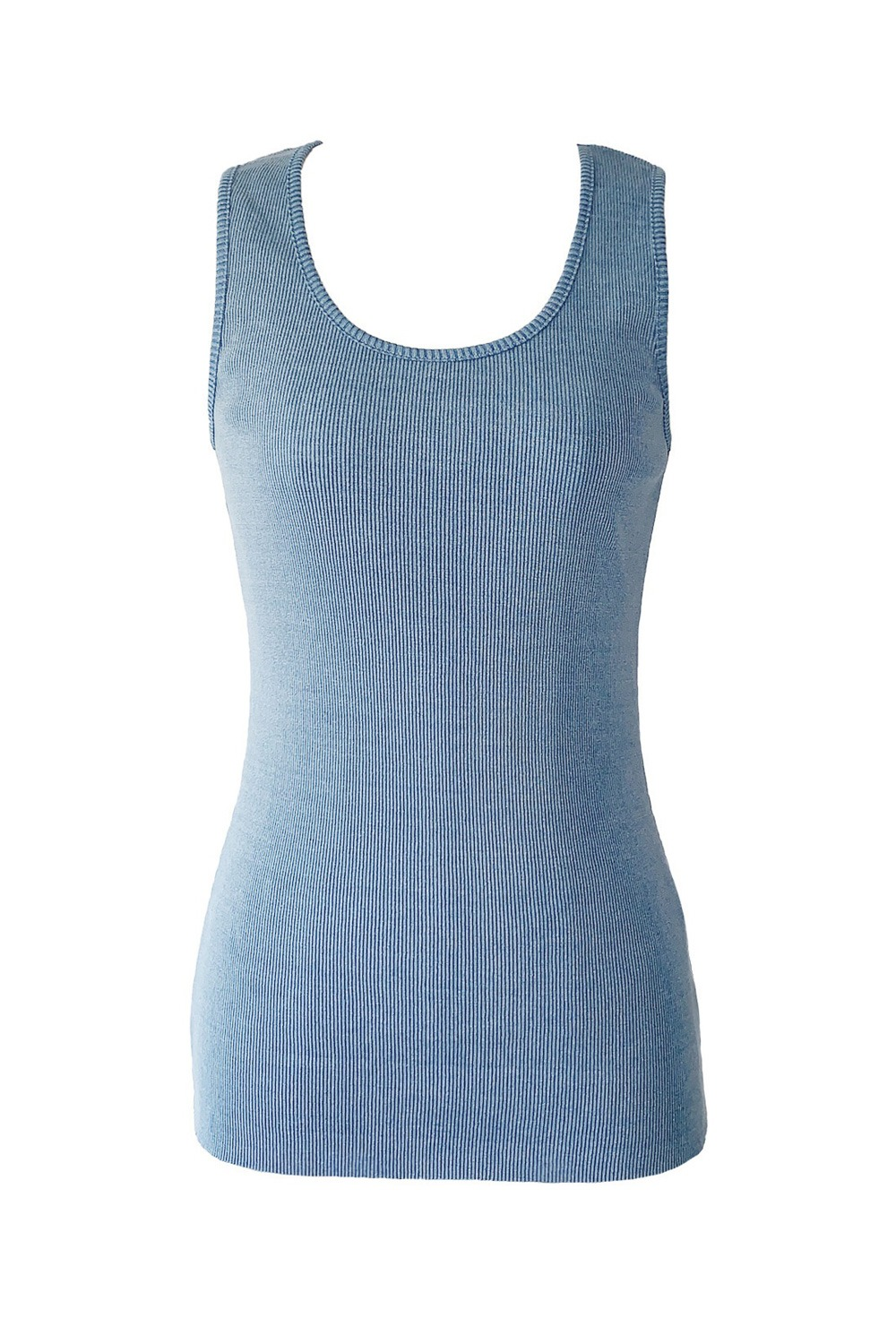 DENIM KNIT TANK TOP