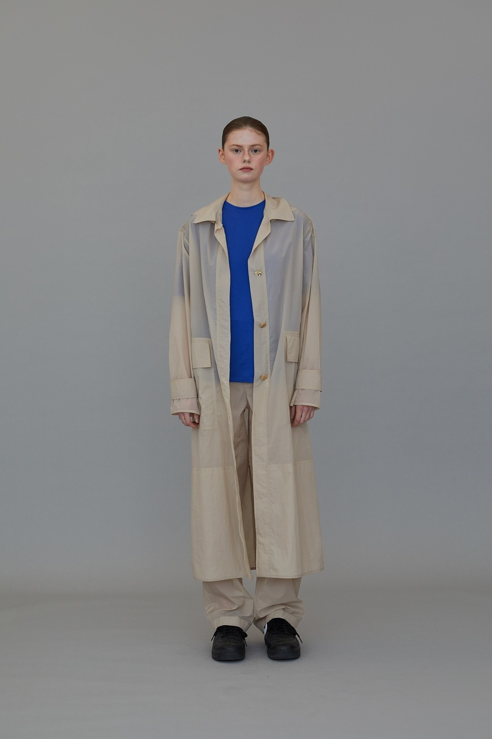 CT02NY01 RUSTLE TRENCH NUDE BEIGE