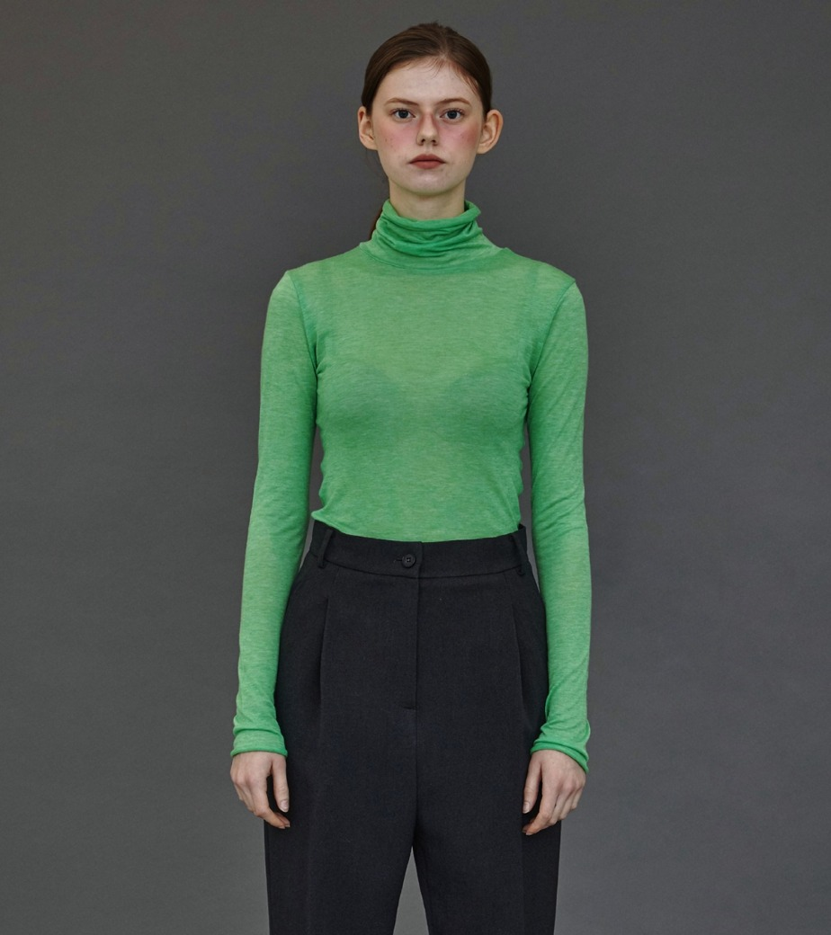 SLIM FIT TURTLE NECK TJASMINE GREEN